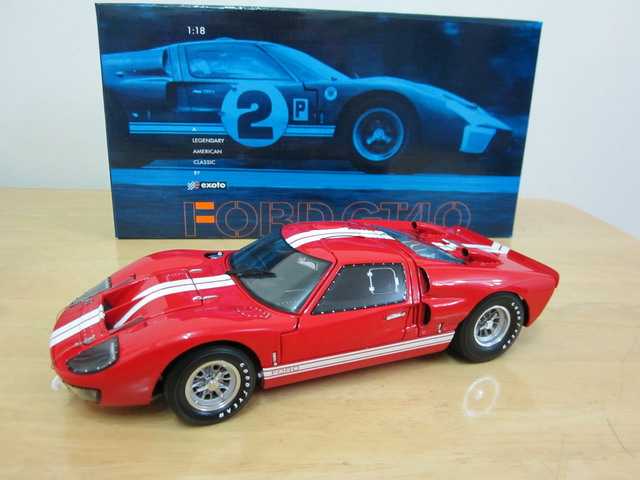 1966 Exoto Ford GT40 Mk II Works Le Mans Prototype